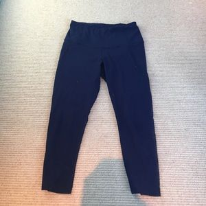 yogalicious cropped navy leggings mesh cut out